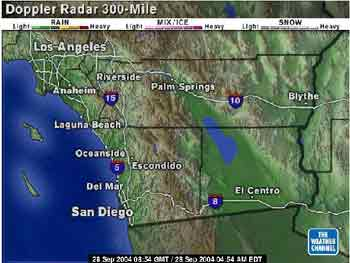 Video 4 San Diego traffic report and San Diego weather conditions.